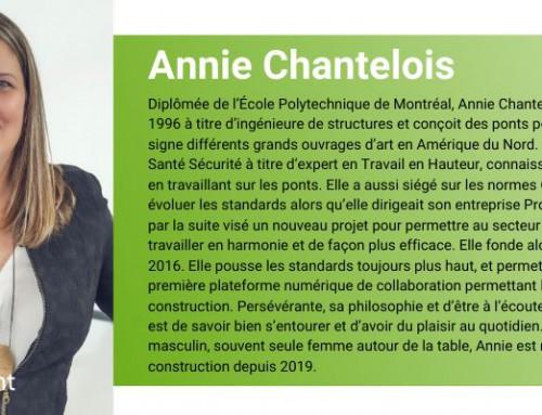 Portrait Elles reconnaissent Annie Chantelois