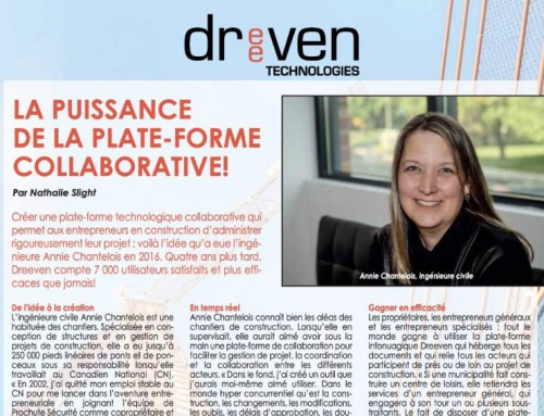 Our platform is the subject of an article in the journal Les Publications Industrie et Commerce